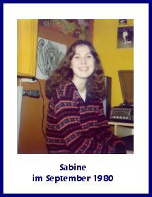 Sabine im September 1980
