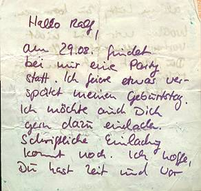 Nachricht für Ralf