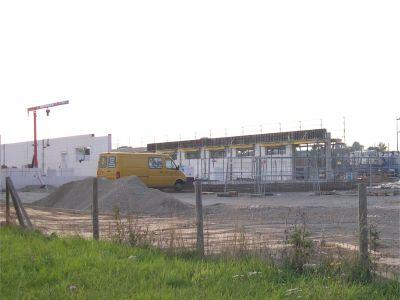 Baustelle Aldi-Markt am 10.09.2006