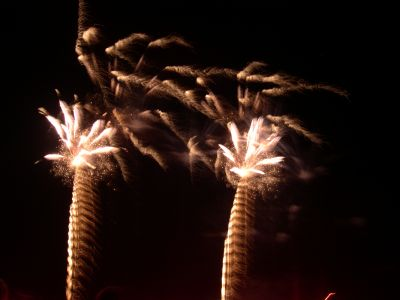 Feuerwerk in weiß und gold