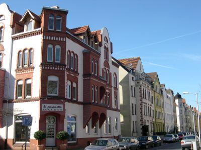 Häuserfassaden Nähe Fiedelerplatz