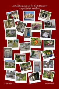 rotes Poster mit Polaroidfotos