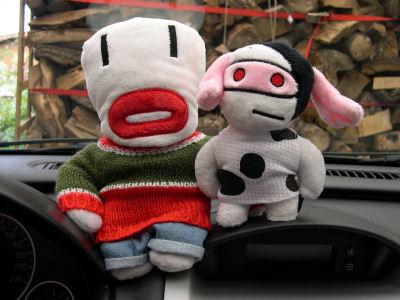 Corsapuppen White und Moo